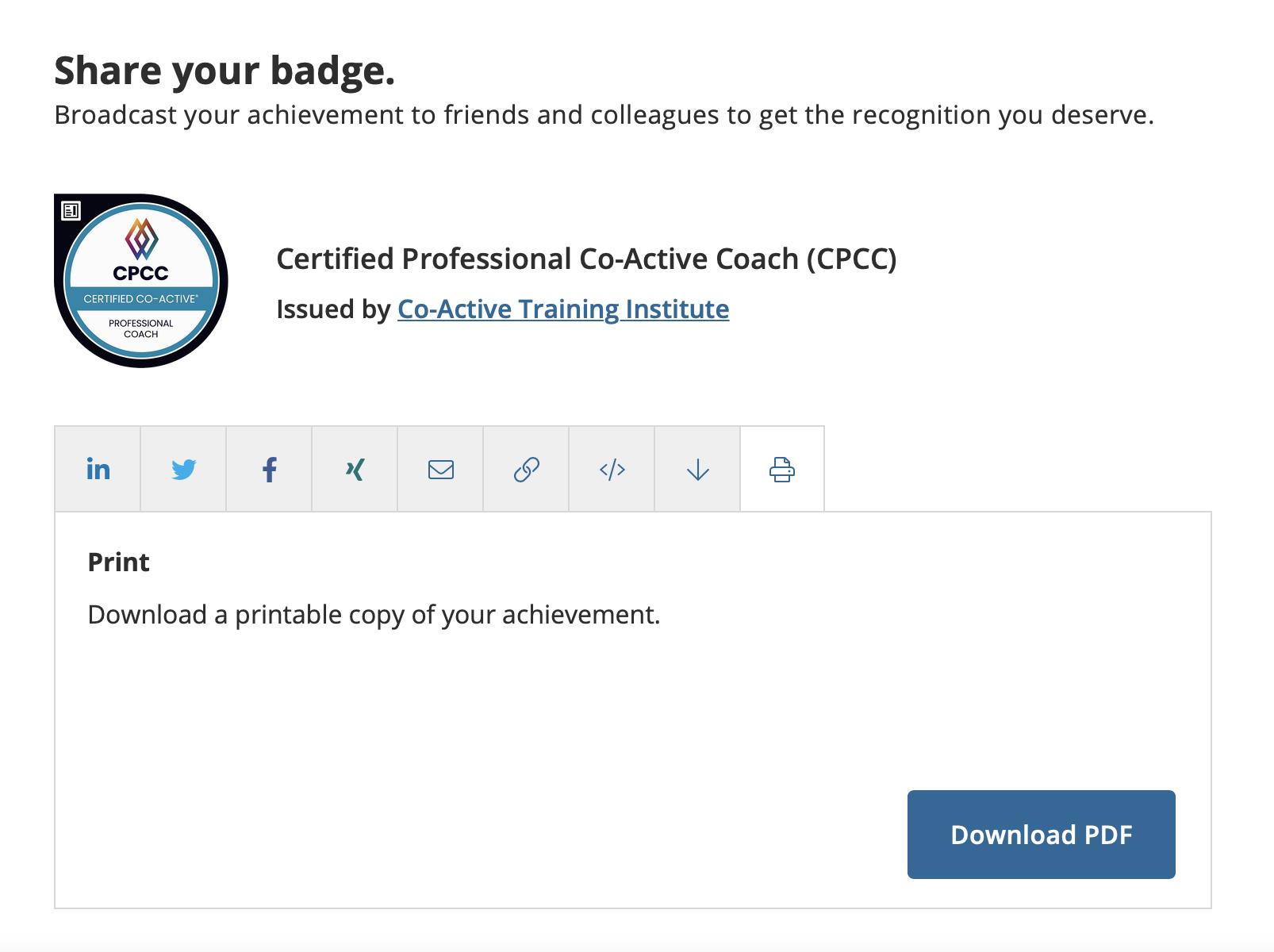 Print Certificate CPCC